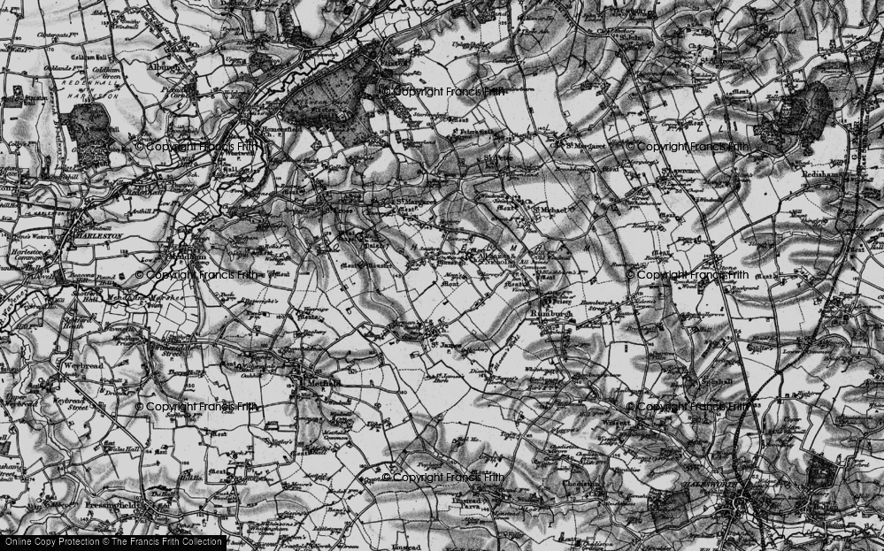 Old Map of St Nicholas South Elmham, 1898 in 1898