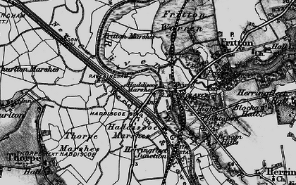 Old map of St Olaves in 1898