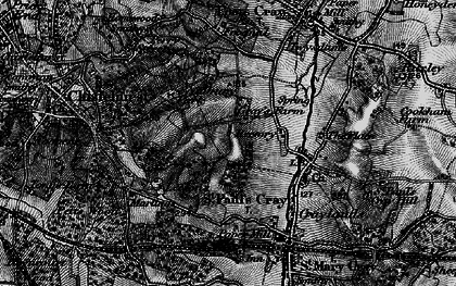 Old map of St Paul's Cray in 1895