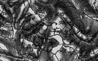 Old map of St Paul's Walden in 1896