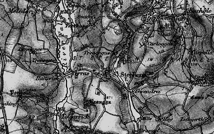 Old map of St Stephen in 1895
