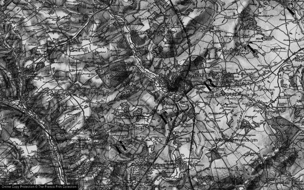Old Map of Historic Map covering Abbey Sta in 1896