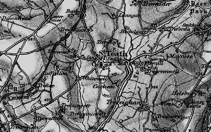 Old map of St Teath in 1895