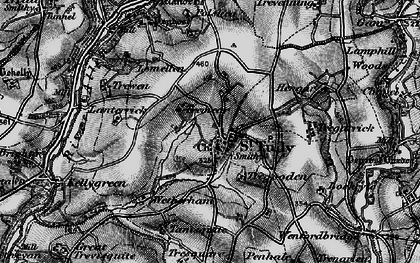 Old map of Wetherham in 1895