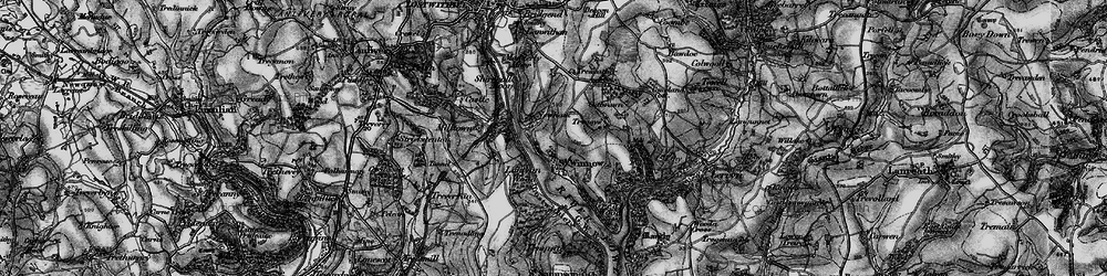 Old map of Lantyan Wood in 1896