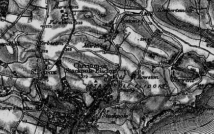 Old map of Stackpole Elidor in 1898