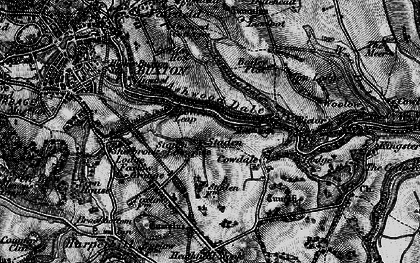 Old map of Ashwood Dale in 1896