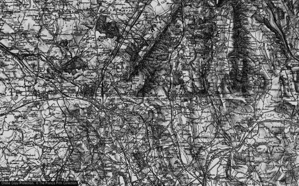 Old Map of Historic Map covering Thursfield Lodge in 1897