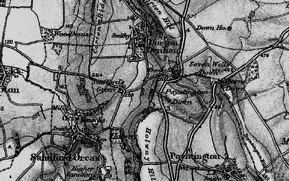 Old map of Wheat Sheaf Hill in 1898