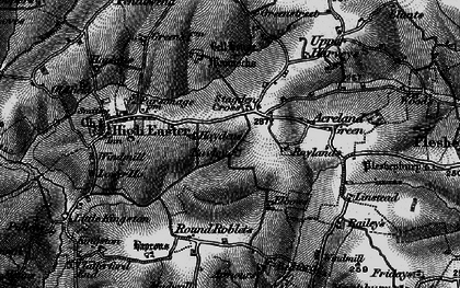 Old map of Acreland Green in 1896
