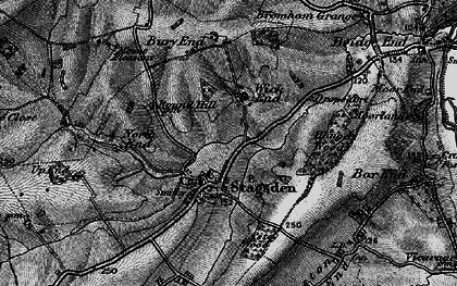 Old map of Astey Wood in 1896