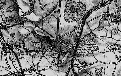 Old map of Staincross in 1896
