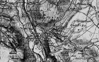 Old map of Stainforth in 1898