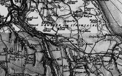 Old map of Asp Ho in 1897