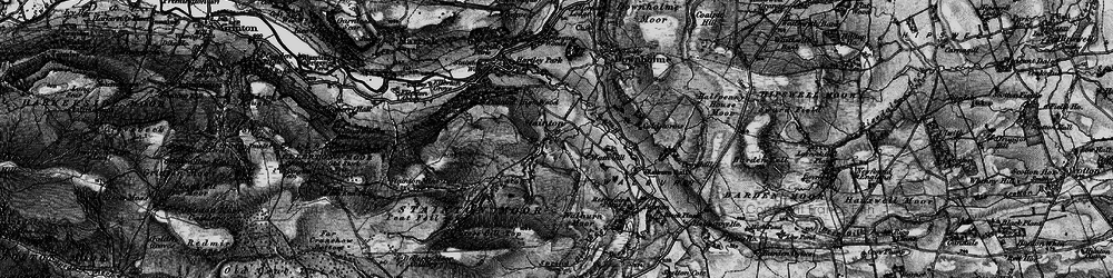 Old map of Whit Fell in 1897