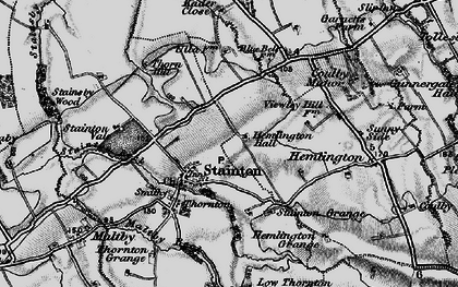 Old map of Stainton in 1898