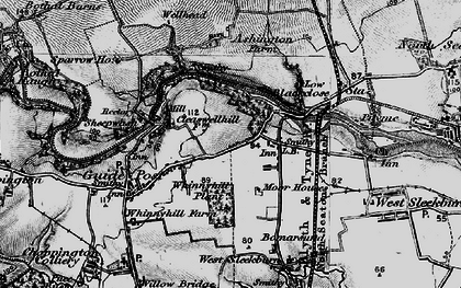 Old map of Stakeford in 1897