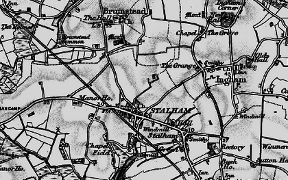 Old map of Stalham in 1898