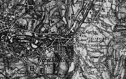 Old map of Stalybridge in 1896