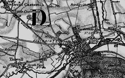 Old map of Stamford in 1895