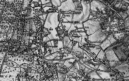 Old map of Linchborough Park in 1895