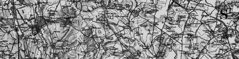 Old map of Standford Bridge in 1897