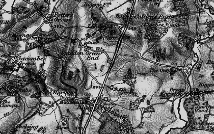 Old map of Standon Green End in 1896