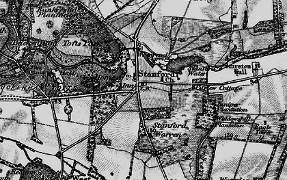 Old map of Widdowshill Plantn in 1898