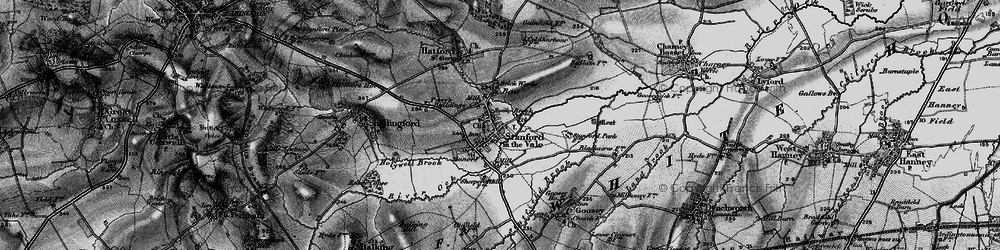 Old map of Stanford in the Vale in 1895