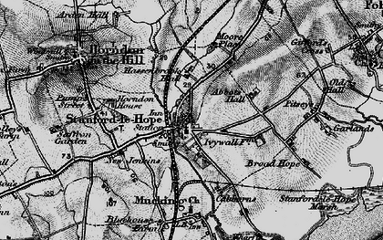 Old map of Stanford-le-Hope in 1896