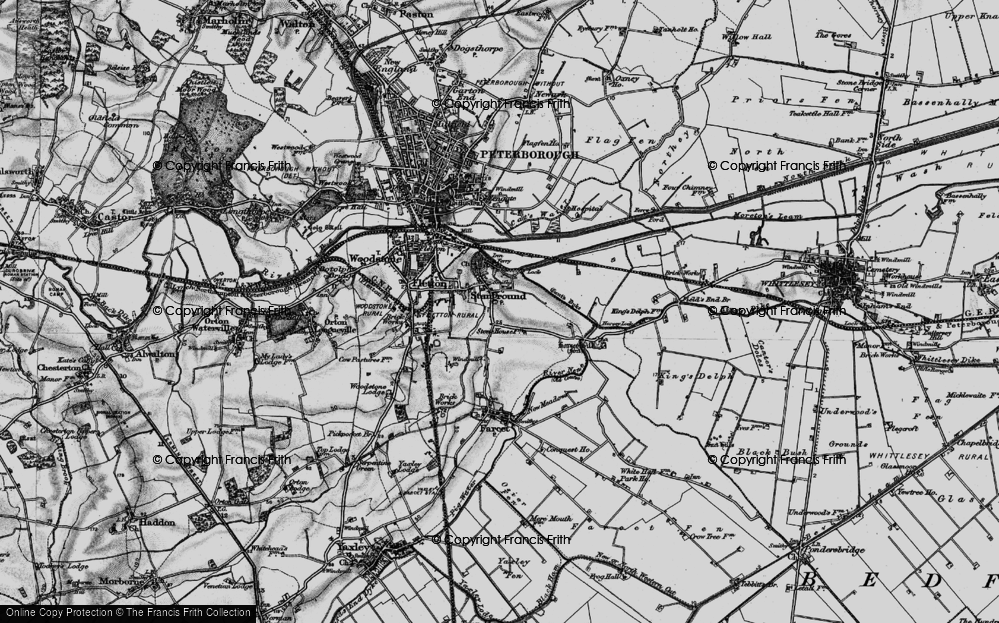 Old Map of Stanground, 1898 in 1898
