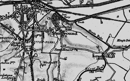 Old map of Stanground in 1898