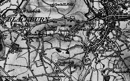 Old map of Stanhill in 1896