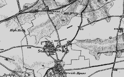 Old map of Stanhoe in 1898