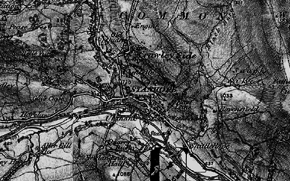 Old map of Stanhope in 1898