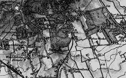 Old map of Stanmore in 1896