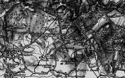 Old map of Larkenshaw in 1896