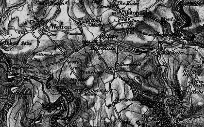 Old map of Wetton Low in 1897