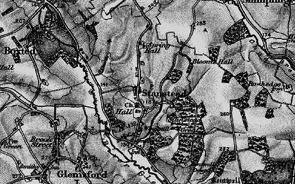 Old map of Stanstead in 1895