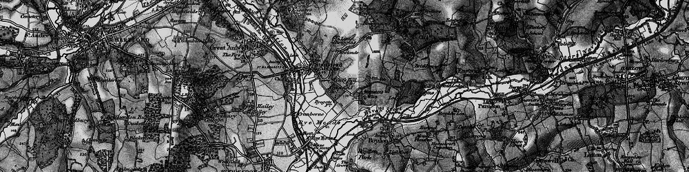 Old map of Stanstead Abbotts in 1896