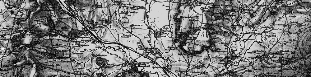 Old map of Stanton Lacy in 1899