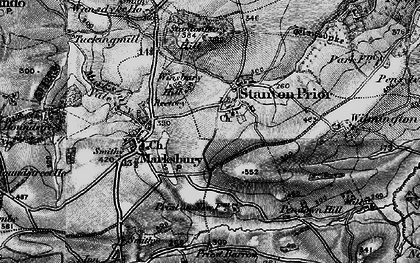 Old map of Winsbury Hill in 1898