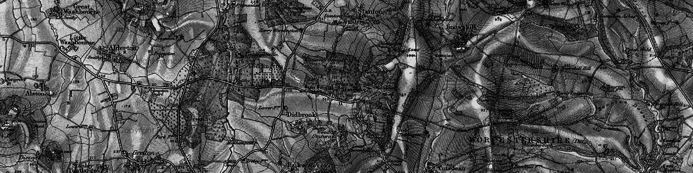 Old map of Lidcombe Wood in 1896