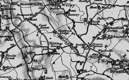 Old map of Wilby Green in 1898