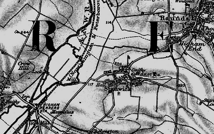 Old map of Stanwick in 1898