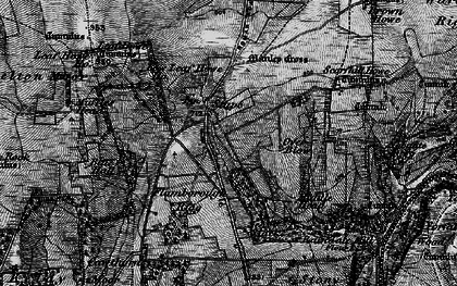 Old map of Leaf Howe Hill in 1898