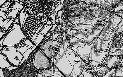 Old map of Stapenhill in 1898
