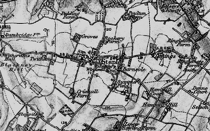 Old map of Staple in 1895