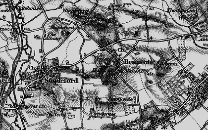 Old map of Stapleford in 1895