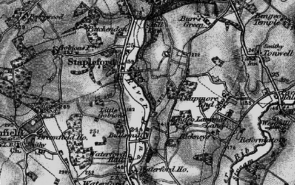 Old map of Stapleford in 1896